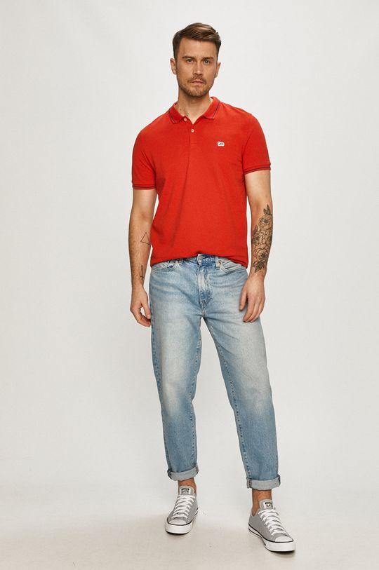 Lee - Polo tričko červená