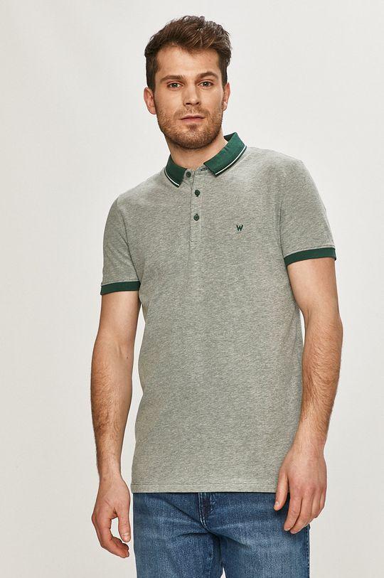 tyrkysová Wrangler - Polo tričko Pánský