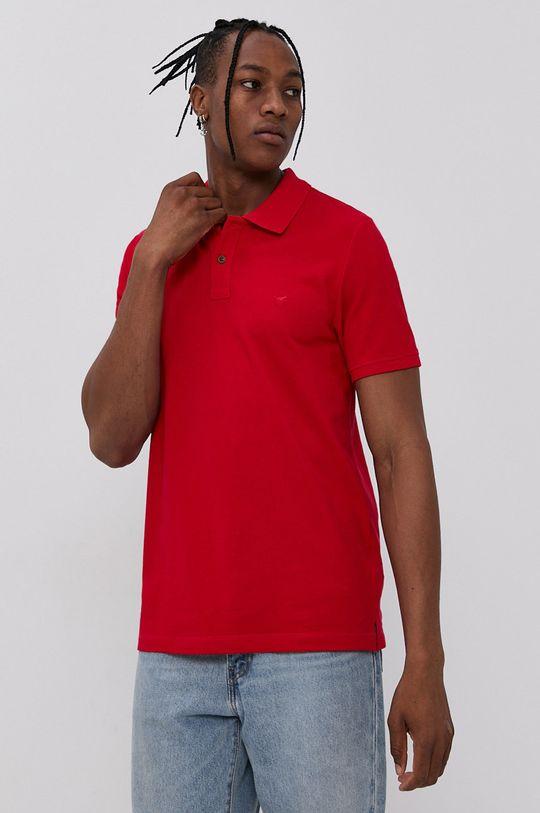 Mustang - Polo tričko červená
