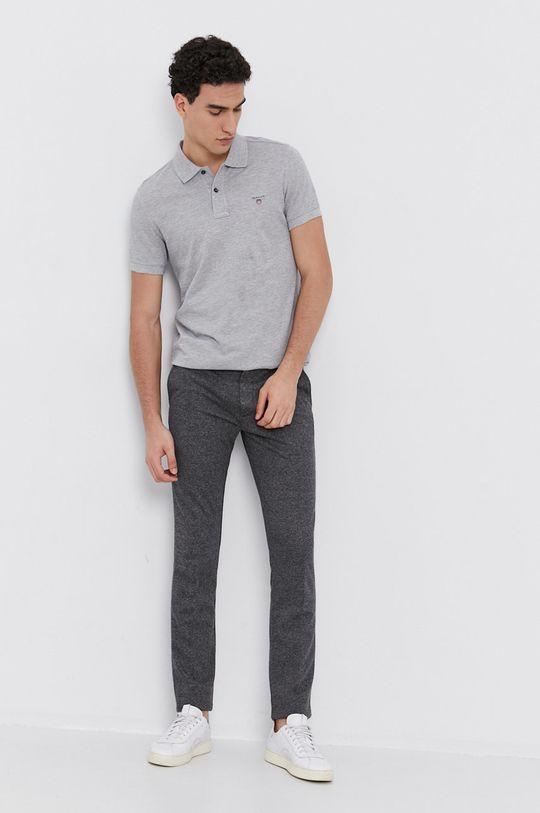 Gant - Polo tričko světle šedá