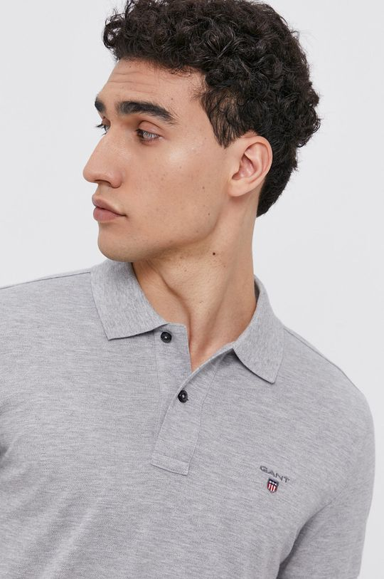 světle šedá Gant - Polo tričko