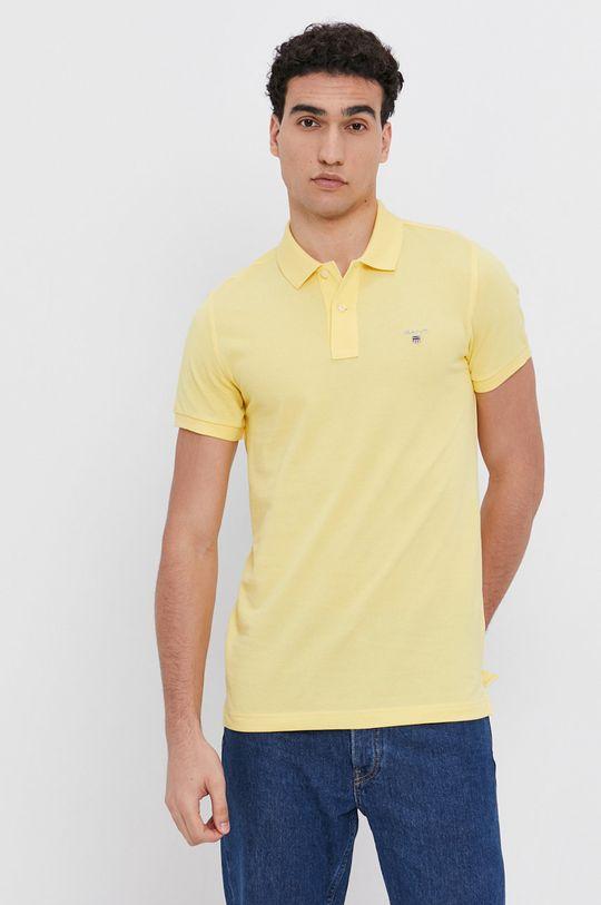 žltá Gant - Polo tričko Pánsky