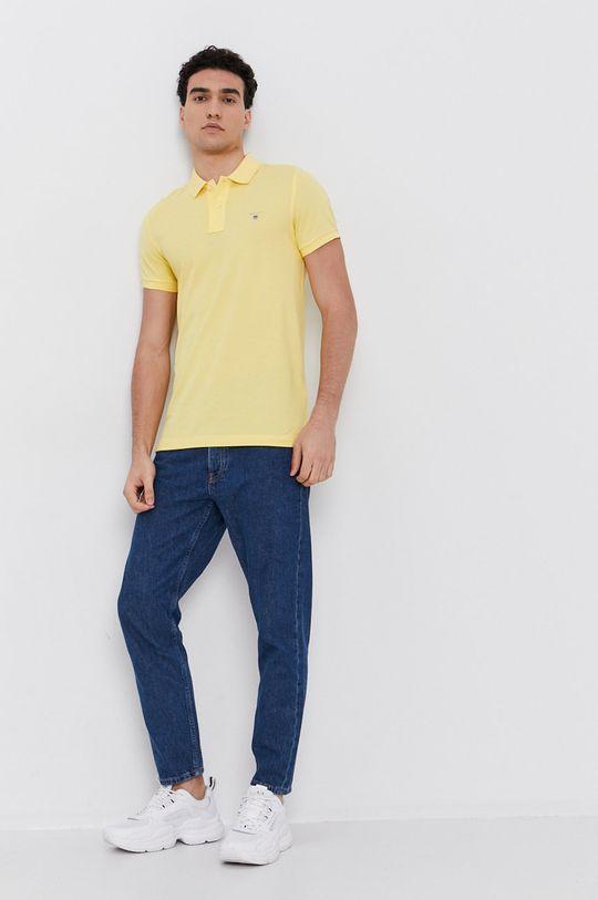 Gant - Polo tričko žltá