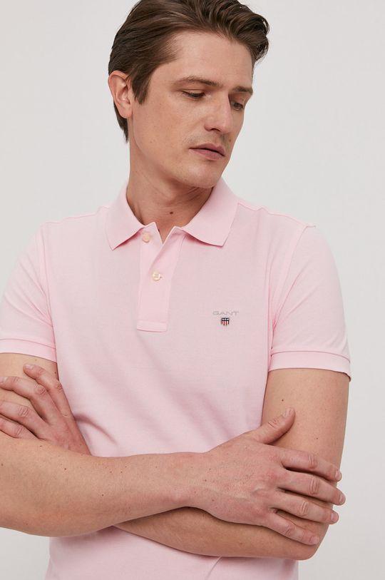 ružová Gant - Polo tričko Pánsky