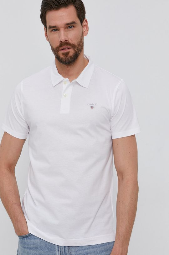 biały Gant - Polo Męski