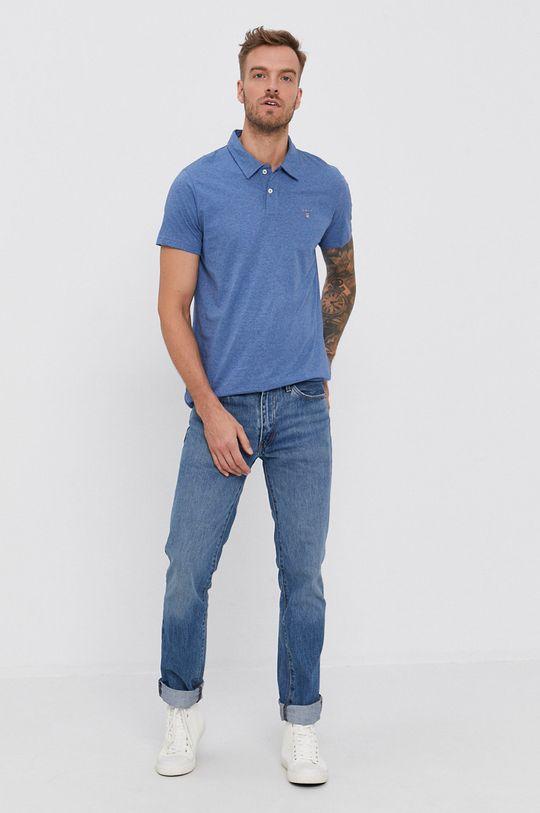 Gant - Polo niebieski