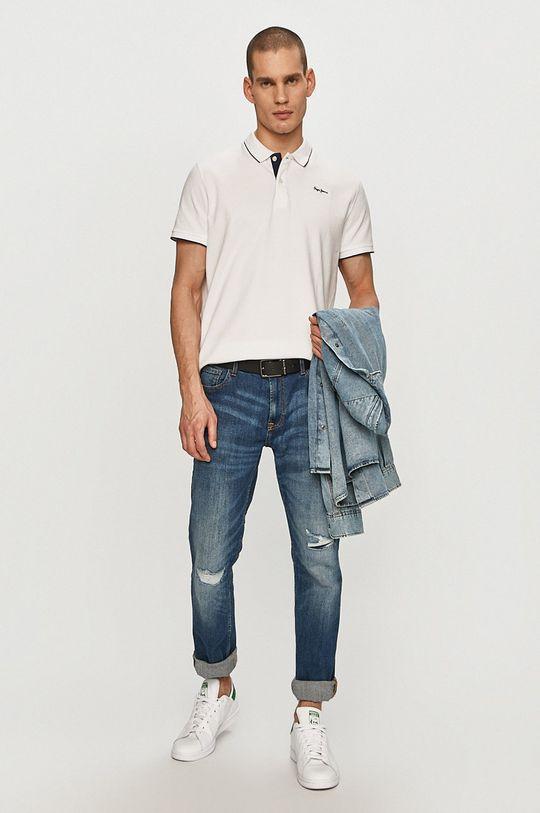 Pepe Jeans - Polo Lucas biały