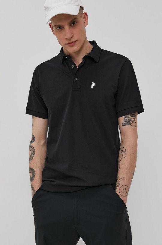 čierna Peak Performance - Polo tričko Pánsky