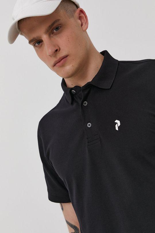 čierna Peak Performance - Polo tričko