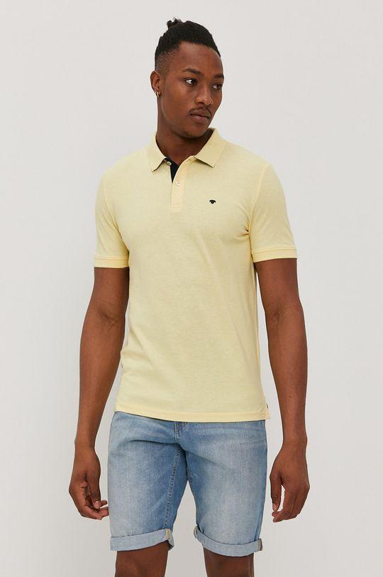 svetložltá Tom Tailor - Polo tričko Pánsky
