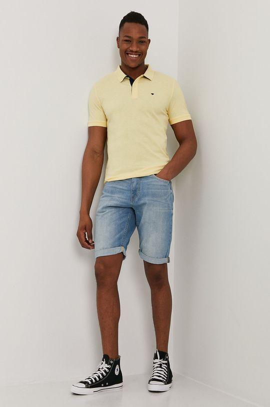 Tom Tailor - Polo tričko svetložltá