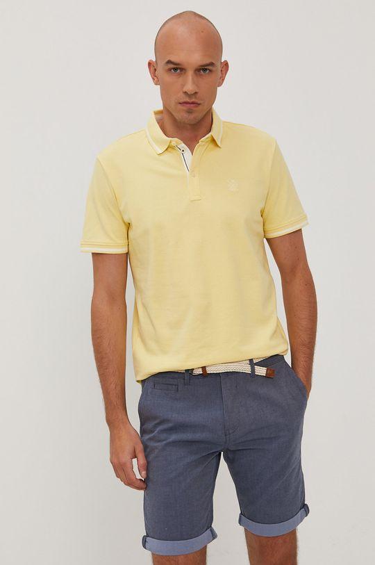 jasně žlutá Tom Tailor - Polo tričko Pánský