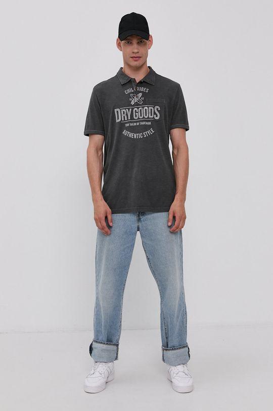 Tom Tailor - Polo tričko šedá