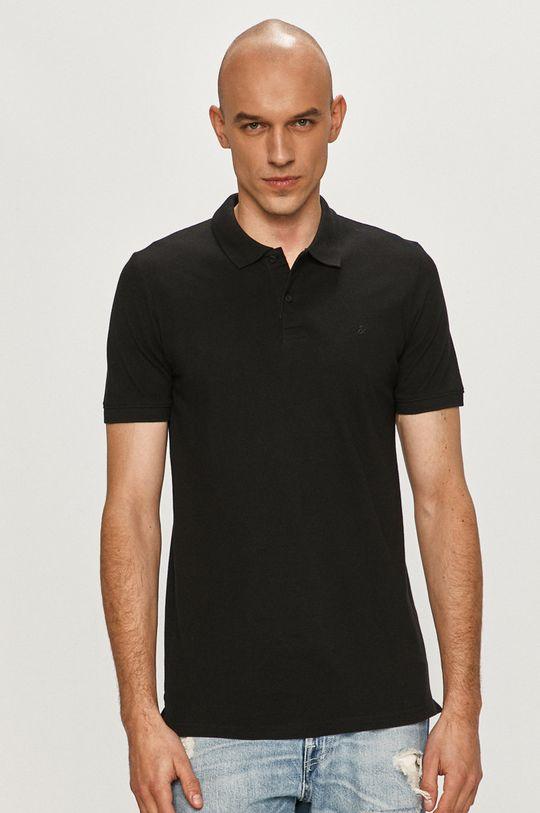čierna Jack & Jones - Polo tričko (2-pak) Pánsky