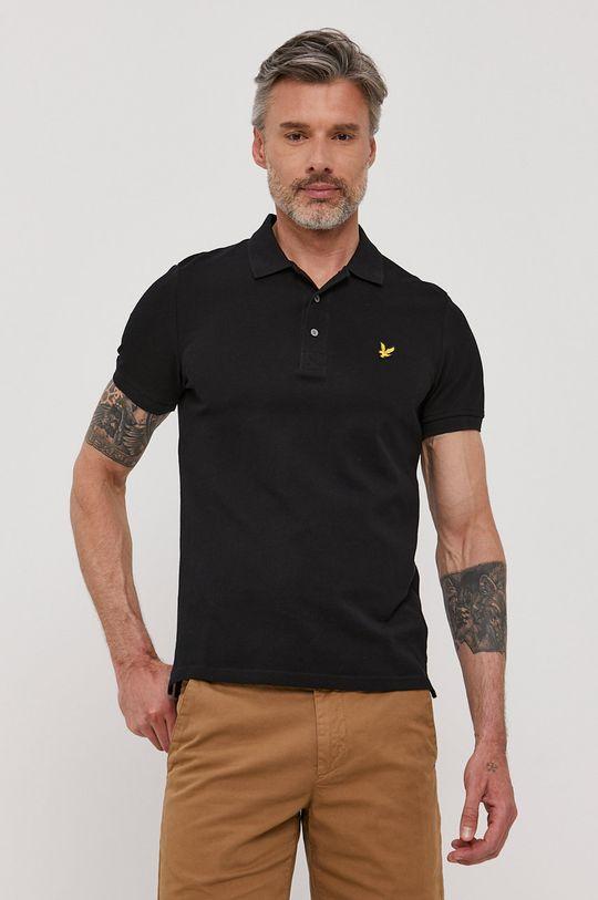 čierna Lyle & Scott - Polo tričko Pánsky