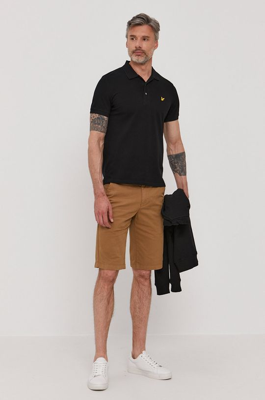 Lyle & Scott - Polo tričko čierna