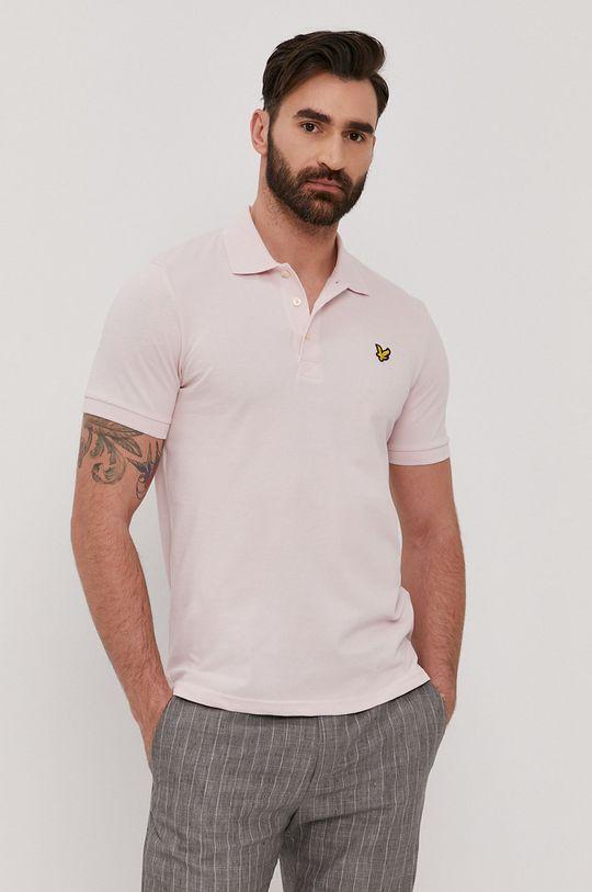 pastelově růžová Lyle & Scott - Polo tričko Pánský