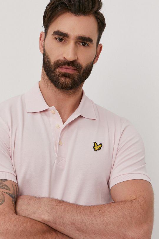 pastelově růžová Lyle & Scott - Polo tričko