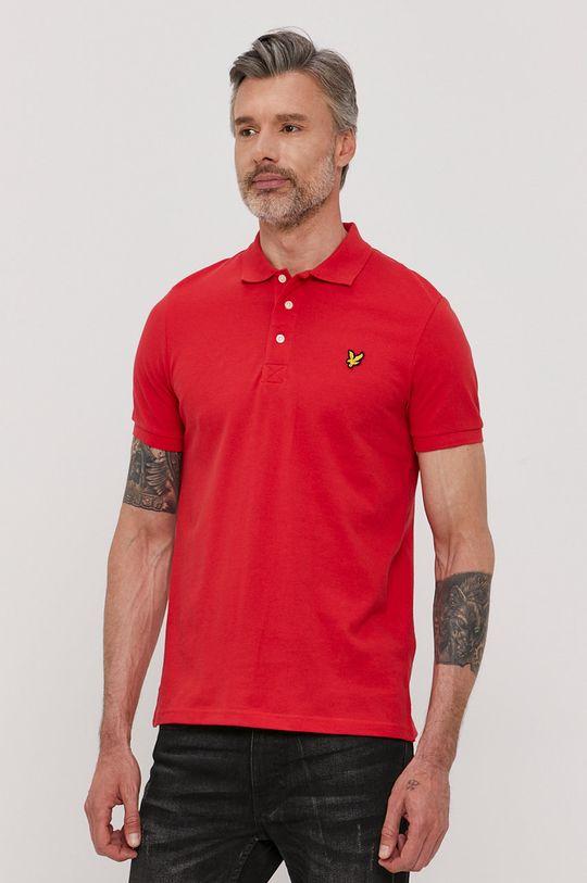červená Lyle & Scott - Polo tričko Pánsky