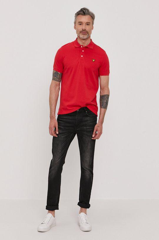 Lyle & Scott - Polo tričko červená