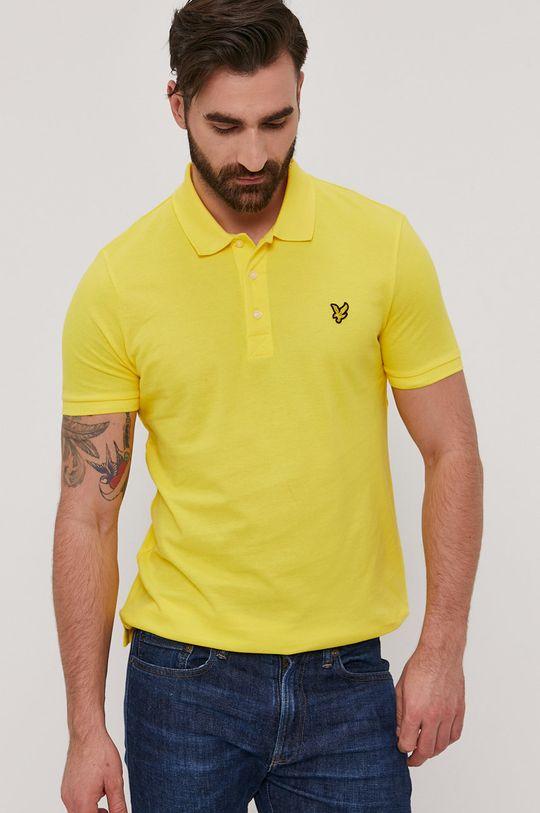 žlutá Lyle & Scott - Polo tričko Pánský
