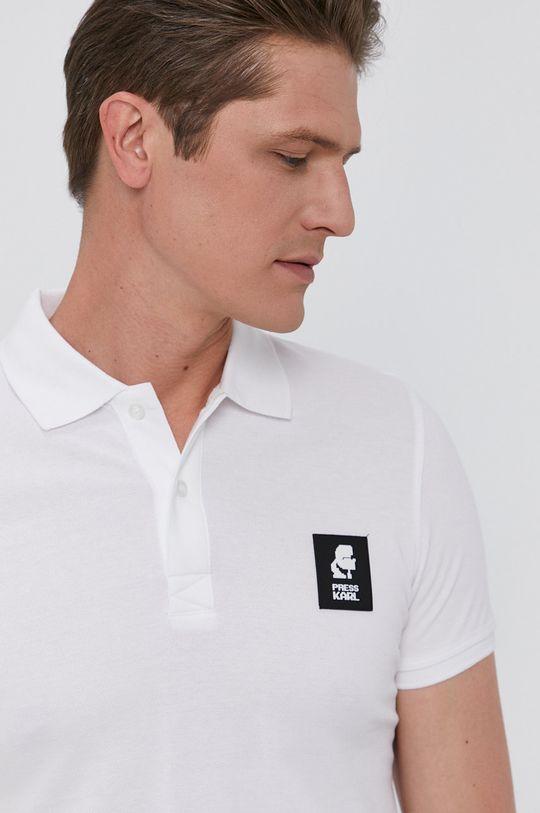 bílá Karl Lagerfeld - Polo tričko Pánský