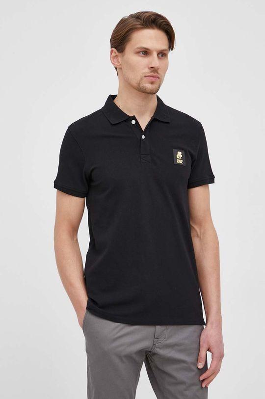 čierna Karl Lagerfeld - Polo tričko Pánsky
