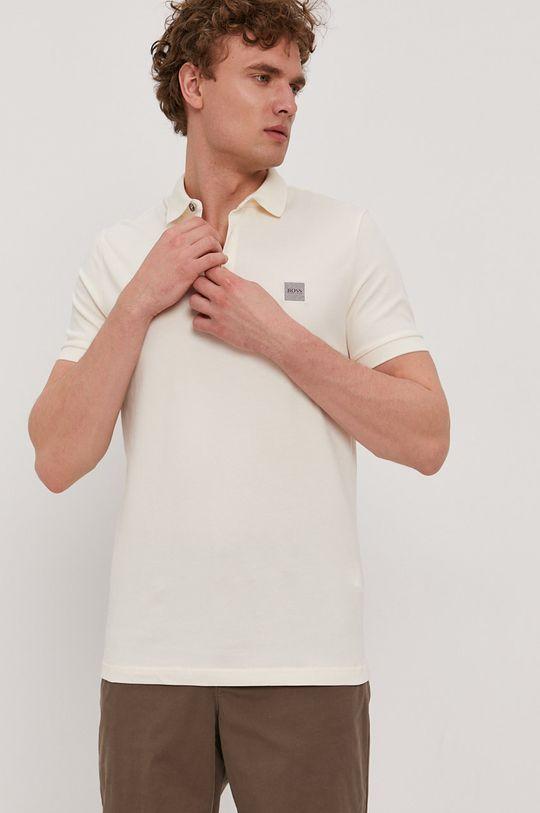 Boss - Polo tričko BOSS CASUAL smetanová