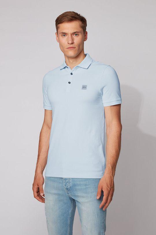 světle modrá Boss - Polo tričko BOSS CASUAL Pánský