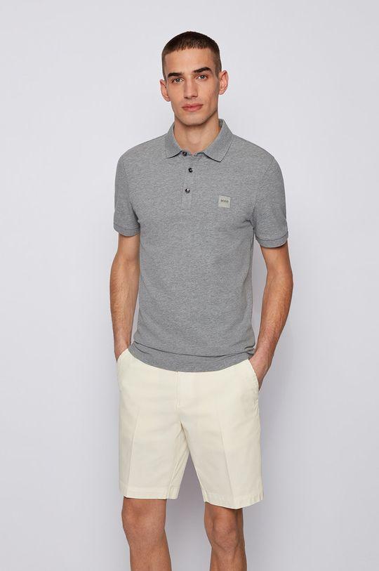 svetlosivá Boss - Polo tričko BOSS CASUAL Pánsky