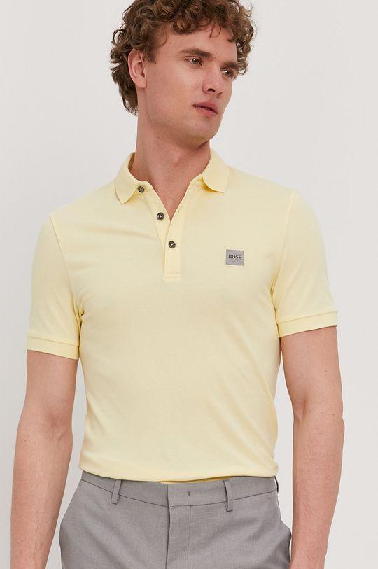 žltá Boss - Polo tričko BOSS CASUAL