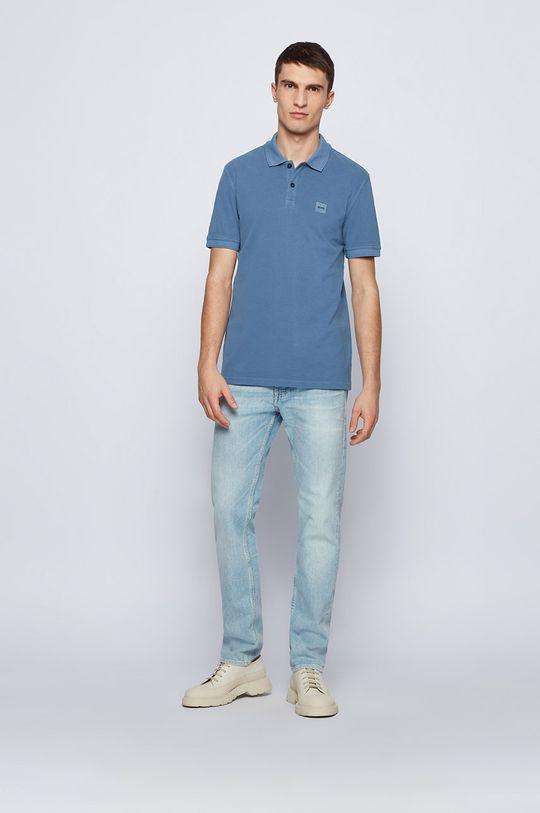 Boss - Tricou Polo BOSS CASUAL albastru