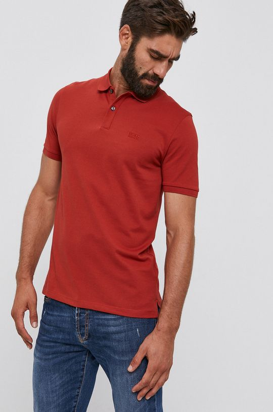červená Boss - Polo tričko Pánsky