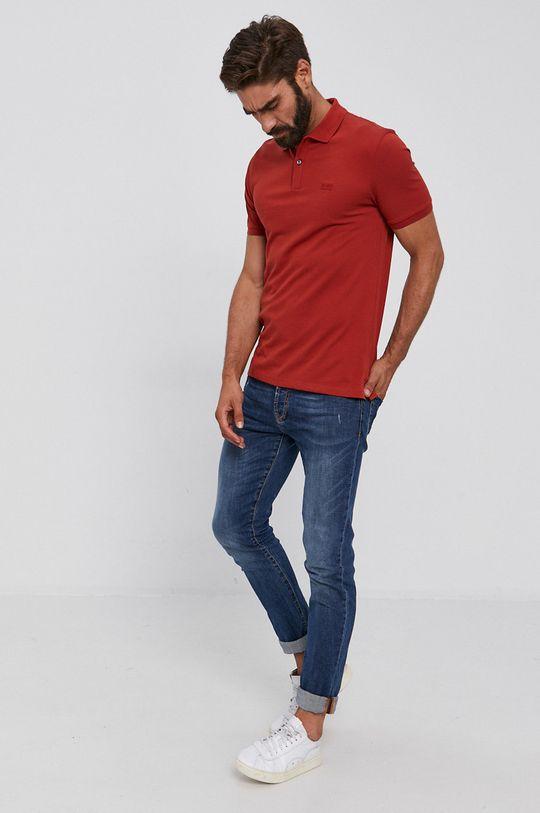 Boss - Polo tričko červená