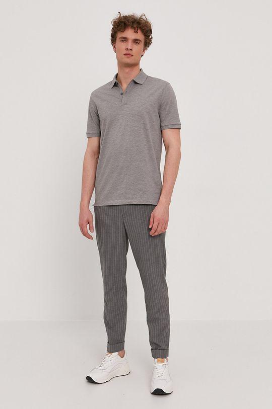 Boss - Polo tričko šedá