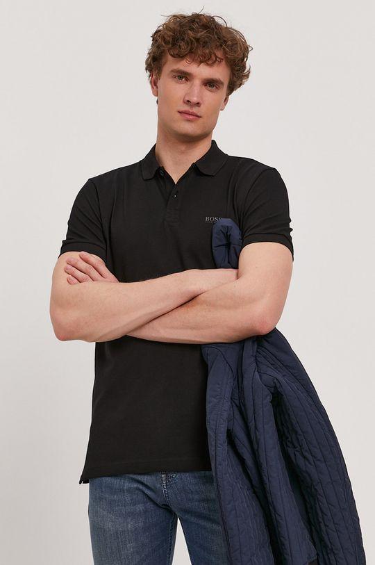 čierna Boss - Polo tričko Athleisure Pánsky