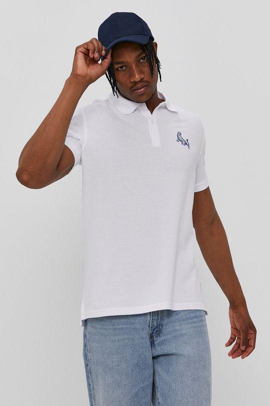 John Frank - Polo tričko biela
