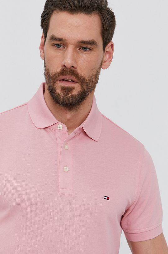 růžová Tommy Hilfiger - Polo tričko