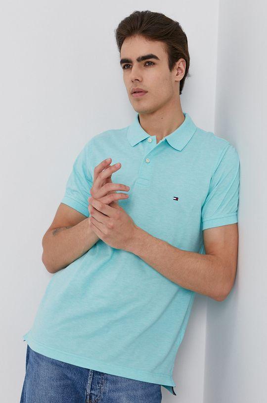 světle tyrkysová Tommy Hilfiger - Polo tričko Pánský