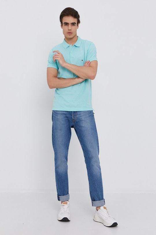 Tommy Hilfiger - Polo tričko světle tyrkysová