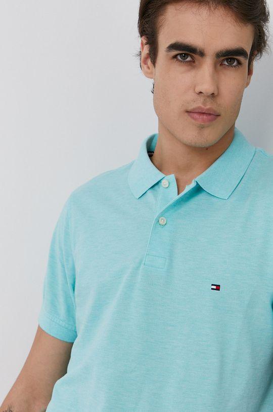 světle tyrkysová Tommy Hilfiger - Polo tričko