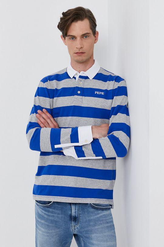 modrá Pepe Jeans - Tričko s dlouhým rukávem FERDINAN Pánský