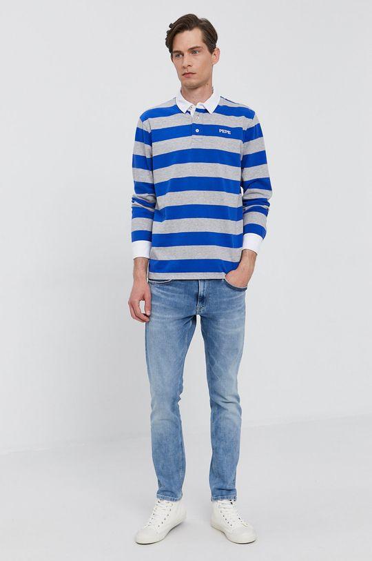 Pepe Jeans - Tričko s dlouhým rukávem FERDINAN modrá