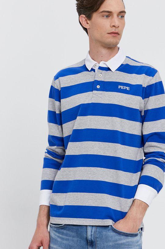 modrá Pepe Jeans - Tričko s dlouhým rukávem FERDINAN