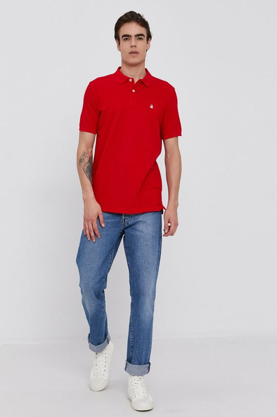 United Colors of Benetton - Polo tričko červená