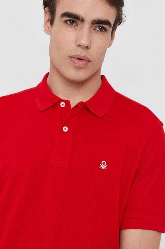 červená United Colors of Benetton - Polo tričko
