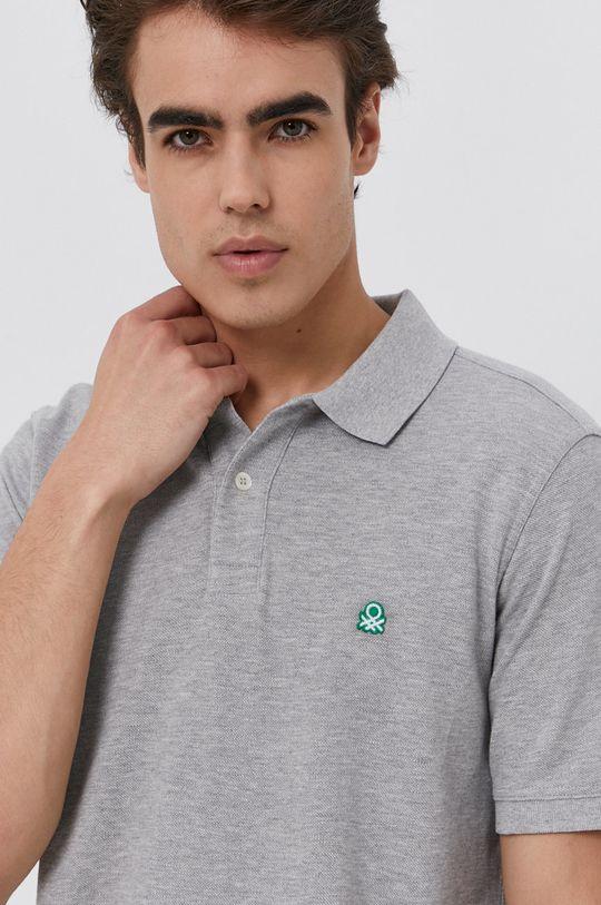 jasny szary United Colors of Benetton - Polo