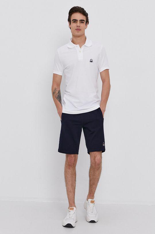 United Colors of Benetton - Polo tričko bílá