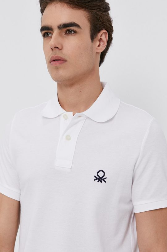 bílá United Colors of Benetton - Polo tričko