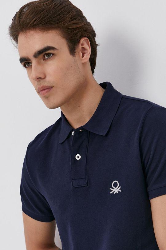 námořnická modř United Colors of Benetton - Polo tričko